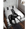 Black Horse Single Duvet Cover and Pillowcase Set