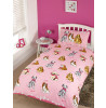 Doggies Pink Single Duvet Cover and Pillowcase Set
