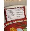 Santa's List Single Christmas Duvet Cover and Pillowcase Set