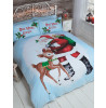 One More Sleep Single Christmas Duvet Cover and Pillowcase Set