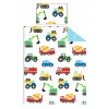 Trucks and Transport Toddler Duvet Cover and Pillowcase Set