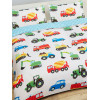Trucks and Transport Double Duvet Cover and Pillowcase Set