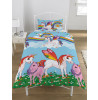 Juego de sábanas Rainbow Unicorns Single Duvet Cover