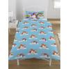 Rainbow Unicorns Single Reversible Duvet Cover and Pillowcase Set