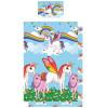 Rainbow Unicorns Single Polycotton Duvet Cover and Pillowcase Set