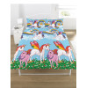 Rainbow Unicorns Double Duvet Cover Bedding Set
