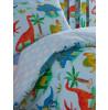 Dinosaur Single Reversible Duvet Cover and Pillowcase Set