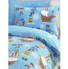 Sea Pirates Single Reversible Duvet Cover and Pillowcase Set
