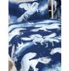 Azul marino Stardust Unicorn 4 en 1 Junior Bedding Bundle Set (edredón, almohada y fundas)