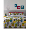 Cacti Reversible Double Duvet Cover and Pillowcase Set