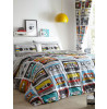 Retro Cassettes Double Duvet Cover and Pillowcase Set
