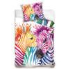 Zebra Colour Single Cotton Duvet Cover and Pillowcase Set