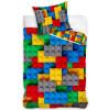 Building Blocks Horizontal Single Duvet Cover Set - European Size