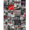 64 Piece Creative Collage City Scapes Designer Wall Mural