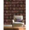 Brown Antique Bookcase Wallpaper - 575208