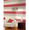 Stripe Wallpaper - E40910 - Red / Cream / Grey