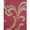 Rasch Elegance Floral Scroll Wallpaper Red / Gold 534344