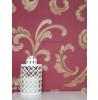 Elegance Floral Scroll Wallpaper Red / Gold Rasch 534344