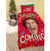 Buddy The Elf Santa Single Duvet Cover and Pillowcase Set
