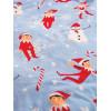 Elf On The Shelf Snowflake Coral Fleece Blanket