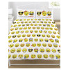 Emoji Multi Double Duvet and Pillowcase Set Bedding