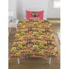Emoji Mr Poo Pink Single Duvet Cover and Pillowcase Set