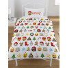 Emoji Christmas Single Duvet Cover and Pillowcase Set