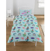 Emoji Unicorn and Mermaid Reversible Single Bedding Set