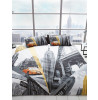 New York Fifth Avenue King Size Duvet Cover and Pillowcase Set