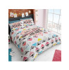 Follow Your Heart Geometric Double Duvet Cover and Pillowcase Set
