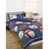 Football Single Duvet Cover and Pillowcase Set - Blue