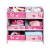 Flowers and Birds Kids 6 Bin Storage Unit