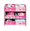 Flowers and Birds Bedroom Furniture Storage Set 6 Bin Storage