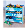 Dinosaurs Storage Unit with 6 Fabric Drawers