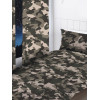 Grey Camouflage Curtains 72 Inch Drop