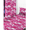 "Pink Camouflage Curtains 54"" Drop"