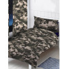 Grey Camouflage Curtains 66in x 72in