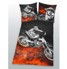 Motorbike Single Duvet Cover and Pillowcase Set