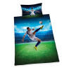 Football Bicycle Kick Single Cotton Duvet Cover Bedding Set