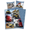 Trucks and Diggers Single Duvet Cover and Pillowcase Set
