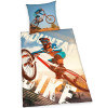 Mountain Bike Single Cotton Duvet Cover and Pillowcase Set