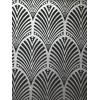Holden Decor Gatsby Art Deco Wallpaper Charcoal 65250