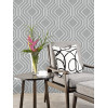 Opus Geo Sequins Wallpaper Silver and Dark Grey Feature Wall Holden Decor 35564
