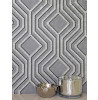 Holden Decor Opus Geo Sequins Wallpaper Silver and Dark Grey 35564
