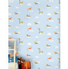 Holden Walkies Sausage Dog Wallpaper Blue 12550