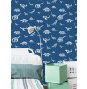 Over the Rainbow Dino Dictionary Wallpaper Blue Holden 90901