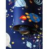 Carta da parati Over the Rainbow Space Animali Glow in the Dark Navy Holden 90922