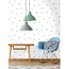 Over the Rainbow Watercolour Polka Dots Wallpaper Blue / Teal Holden 91001