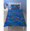 Justice League Inception Single bedding reversible Set blue boys children