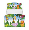 Jungle Junior Toddler Bed with Underbed Storage and Mattress
